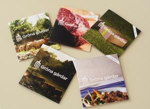 Gröna gårdars fem broschyrer.